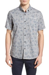 Descendant Of Thieves Rock Steady Woven Shirt Grey