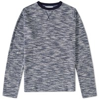 Officine Generale Japanese Terry Crew Sweat Blue