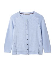 White Stuff Lagoon Button Cardi Pale Blue