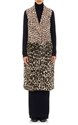 Stella Mccartney Women's Faux Fur Long Vest Brown