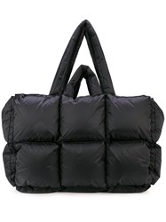 Off White Oversized Padded Tote Black