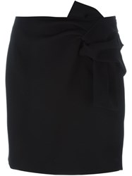 N 21 Nao21 Front Knot Mini Skirt Black