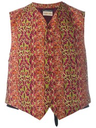 Romeo Gigli Vintage Patterned Waistcoat Red