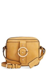 Sole Society Faux Leather Camera Crossbody Bag Yellow Yellow Ochre