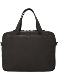 Allsaints Minato Waxed Brushed Canvas Work Bag