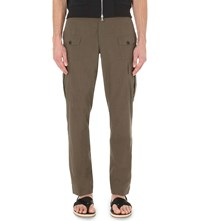 Dries Van Noten Pavo Linen And Cotton Blend Cargo Trousers Mud