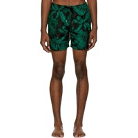 Bather Black Tropical Palms Swim Shorts