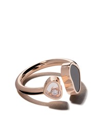Chopard 18Kt Rose Gold Happy Hearts Onyx And Diamond Ring Unavailable
