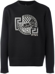 Versus Embroidered Logo Sweatshirt Black