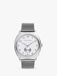 Larsson And Jennings Me38 Msv Sn 'S Meridian Bracelet Strap Watch Silver White