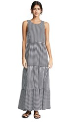 Mds Stripes Georgia Peasant Dress Black Stripe