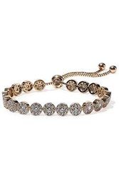 Cz By Kenneth Jay Lane Woman Gold Plated Crystal Bracelet Gold