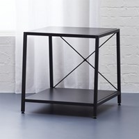 Cb2 Harvey Carbon Grey Nightstand