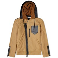Coach Hooded Military Jacket Brown