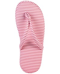 Charter Club Printed Slippers Only At Macy's Pink Stripe
