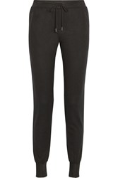 Rag And Bone Lena Wool Jersey Track Pants Black