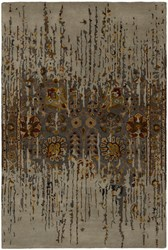 Chandra Spring Patterned Rectangular Contemporary Area Rug Gray