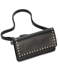 Inc International Concepts I.N.C. Quiin Studded Convertible Belt Bag Created For Macy's Black