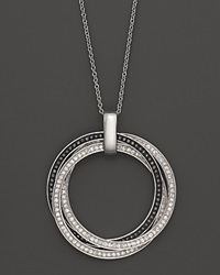 Bloomingdale's Black And White Diamond Pendant In 14K White Gold 0.65 Ct. No Color