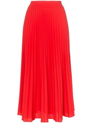 Beaufille Lozano Pleated Skirt Red