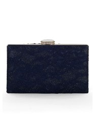 Chesca Floral Lace Clutch Bag Navy