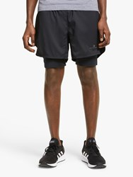 Ronhill Stride Revive Twin 5 Running Shorts All Black