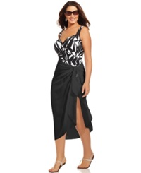 Dotti Plus Size Cover Up Self Tie Pareo Sarong Women's Swimsuit