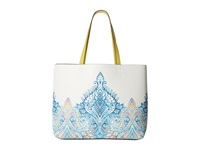 Echo Painted Sly Cut Out Reversible Multi Citron Tote Handbags White