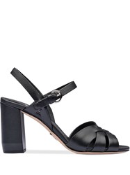 Prada Leather Sandals With Strap Black