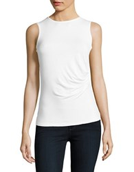 Lord And Taylor Petite Solid Cinched Tank Top White