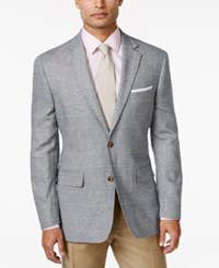 Tasso Elba Men's Windowpane Sport Coat Only At Macy's Blue