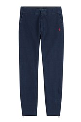 Alexander Mcqueen Denim Sweatpants Blue