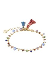 Gas Bijoux Armband Gipsy 24Kt Gold Plated Bracelet With Glass Beads Multicolor