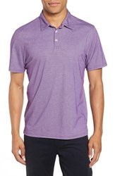 Zachary Prell Caldwell Pique Trim Fit Polo Purple