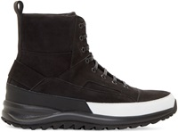 Public School Black Suede Cortland High Top Sneakers