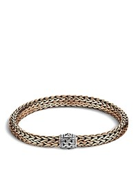 John Hardy Men's Classic Chain Silver And Bronze Medium Chain Bracelet Brown