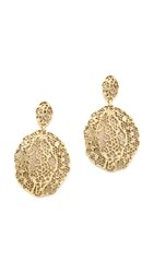Aurelie Bidermann Lace Earrings Gold