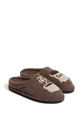 Haflinger 'Coffee' Slipper Earth