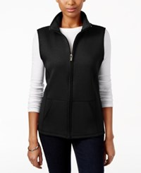 Karen Scott Quilted Zip Front Vest Only At Macy's Deep Black