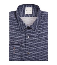 Paul Smith Micro Floral Printed Shirt Male Navy