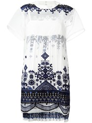 Sacai Tribal Lace Dress White