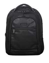 Kenneth Cole Reaction Leather Trimmed Nylon Backpack Black