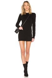 Cotton Citizen Tokyo Long Sleeve Mini Dress Black