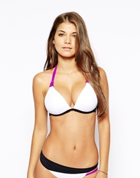 By Caprice Wonderous Star Halter Bikini Top Purplewhiteblack