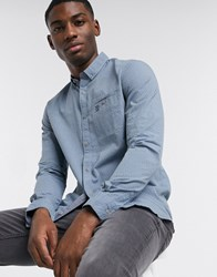 Tom Tailor Dotted Shirt In Pale Blue Navy