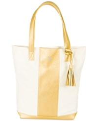 Cathy's Concepts Personalized Gold Faux Leather Weekender Tote