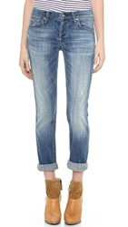 7 For All Mankind Josefina Rolled Hem Jeans Bright Light Broken Twill