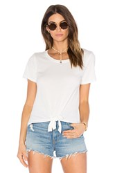 Candc California Mandy Tie Front Tee White
