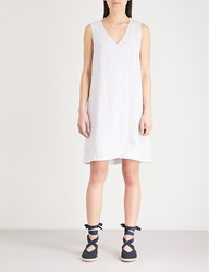 The White Company Wrap Over Linen Dress Grey