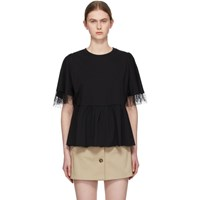 Red Valentino Black Tiered T Shirt